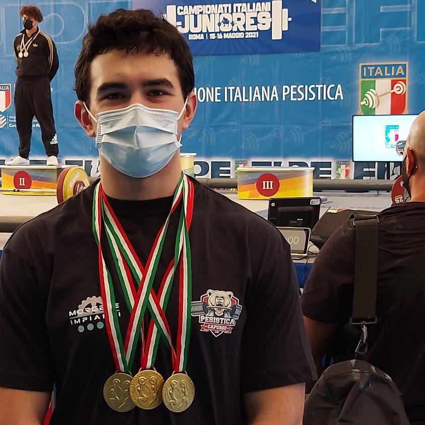 PESISTICA / IL CAPURSESE ANTONIO TRONO CAMPIONE ITALIANO UNDER 20