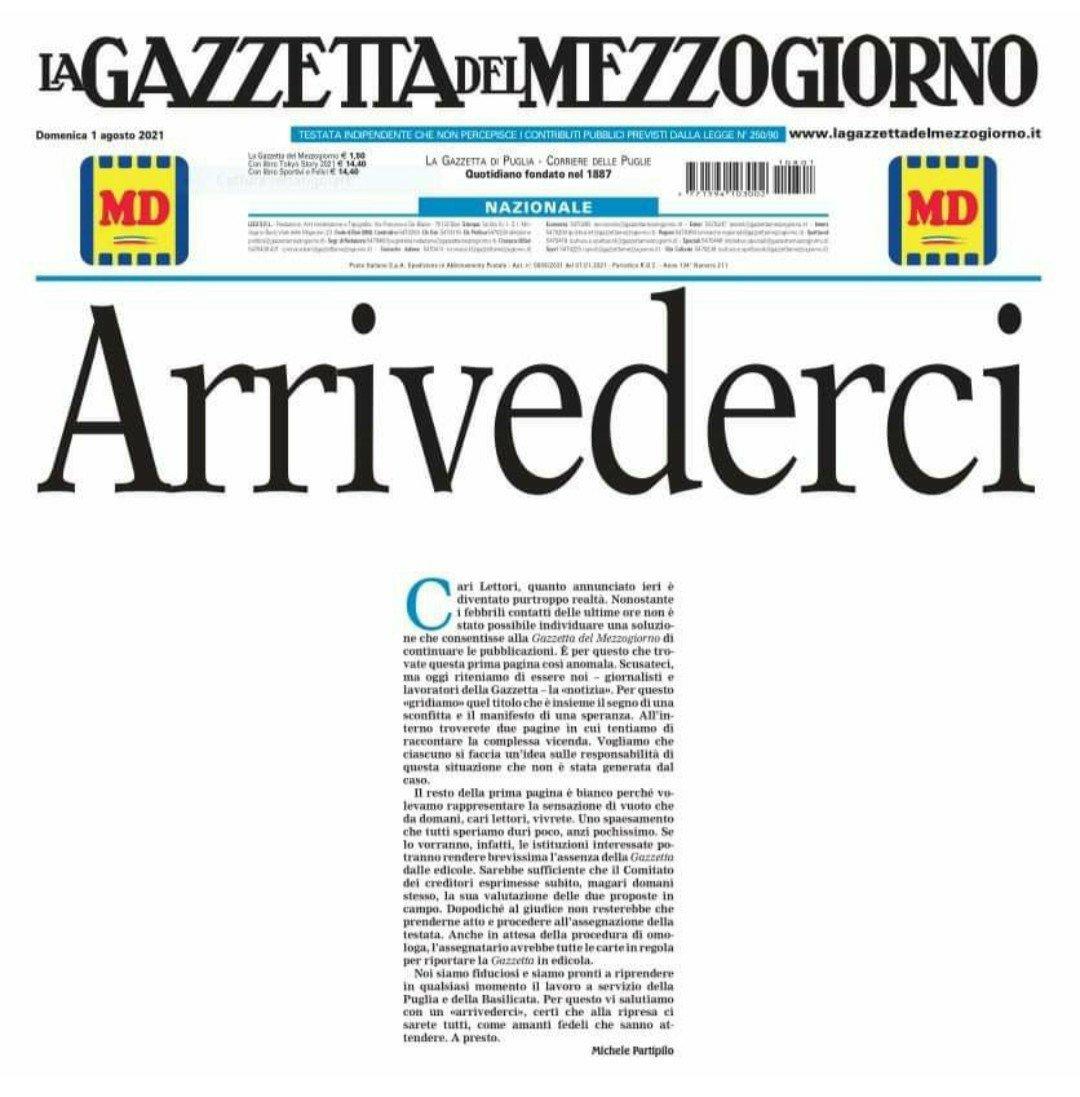 EDITORIALE / LA GAZZETTA DEL MEZZOGIORNO, STORIA INDELEBILE DI RISORSE E PASSIONI